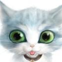 Je reposte ce petit chat fait sur opencanvas à l'epoque. J'ai voulu le faire super mignon avec des grand yeux sauf que au final bah ça fait plus peur qu'autre chose XD !!