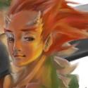 Un des premiers perso colorié sous corel painter 6. Réalisé pour un ancien concours d'AF sur le theme de mi-homme mi-bete. Il s'agit ici d'un homme mi-dragon avec un gros couteau à beurre.  Fait le 30/11/2005.