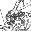 Un dessin fait pour une amie qui aime Fran un personnage de Final Fantasy XII. Elle a peur des papillons. J'espere qu'elle va quand meme aimer ce dessin :P.